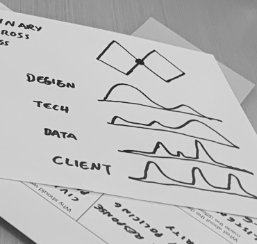 scribbles on paper illustrating UX design